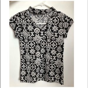 Other - shirt with black and white pattern
